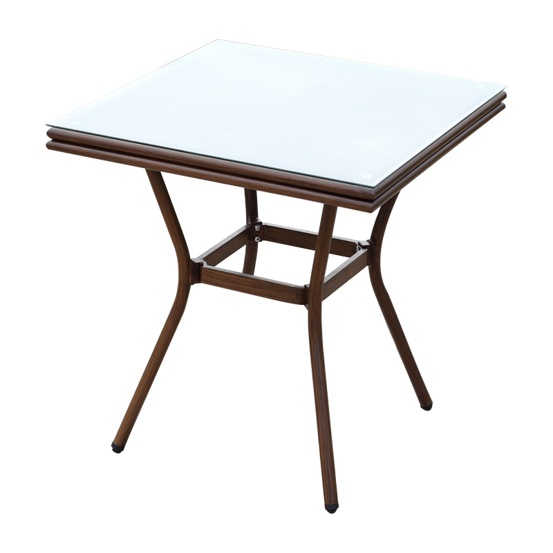 double tube square table